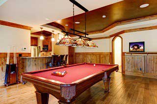 Professional pool table setup in Tucson