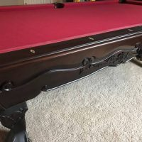 Beautiful 8Ft Pool Table With Red Tournament Felt