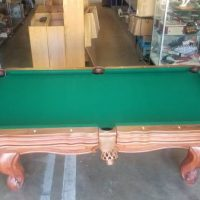 Presidential African Teak Wood Pool Table