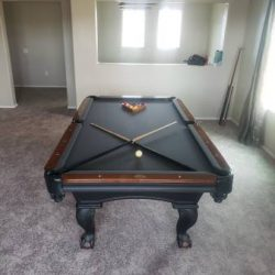 8ft Olhausen Blackhawk Pool Table