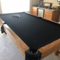 Beautiful Custom Manufactured Murrey & Sons 8ft. Pool Table
